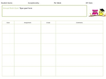 IEP Goal Reporting Preview