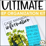 Editable IEP Organization Throughout the Year