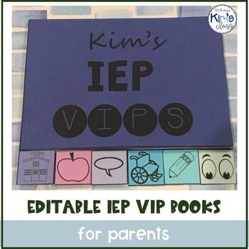 Editable IEP VIP Booklets for Parents #BTS2017
