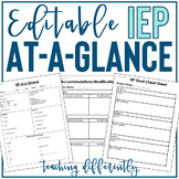IEP at a Glance {Editable}