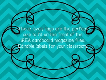 Editable IKEA Magazine Box Labels