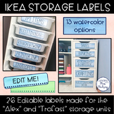 Editable IKEA Storage Labels