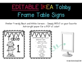 Editable IKEA Tolsby Table Signs and Bonus Back to School File