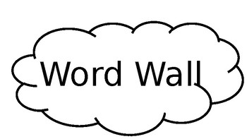 Editable Ice Cream Word Wall Template
