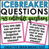 Editable Icebreaker Questions