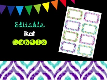 Editable Ikat Labels (Small, 2x4)