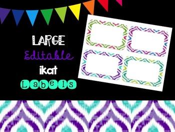 Editable Ikat Labels (Large)