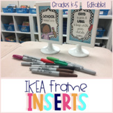 Editable! Ikea Frame Inserts & Contact Cards
