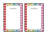 Editable Ikea Tolsby Frame Inserts (Rainbow Pop Theme)