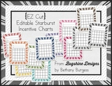Editable Incentive Chart Printables {Starbursts}