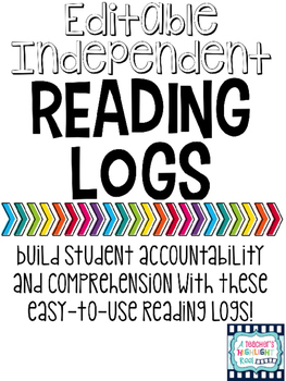 Editable Independent Reading Logs