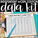 Editable Independent Work Station Data Kit