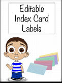 Editable Index Card Student Name Labels