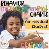 Editable Individual Behavior Charts