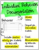 Editable Individual Behavior Documentation {Intermediate}