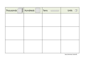 Editable Individual Place Value Graphic Organizers *Whiteboard*