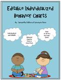 Editable Individualized Behavior Charts