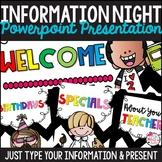 Editable Information Night PowerPoint Presentation