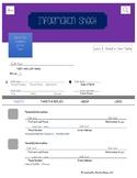 Editable Information Sheet
