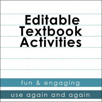Editable Textbook Activities - BUNDLE