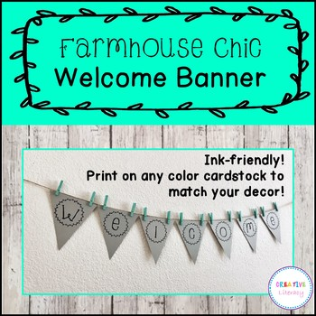 Editable & Ink Friendly Farmhouse Welcome Banner