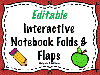 Seller's Pack of Editable Inserts, Flaps and Folds for Int