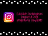 Editable Instagram Inspired Biography Template