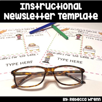 Editable Instructional Newsletter Template for Principals