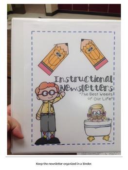 Editable Instructional Newsletter Bundle