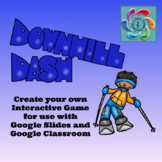 Editable Interactive Game for Google Slides- Downhill Dash Create a Game