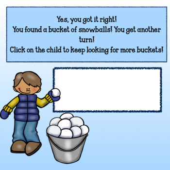 Editable Interactive Game for Google Slides- Snow Much Fun Create a Game