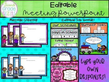 Editable Interactive Meeting Template