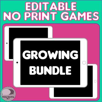 Editable & Interactive No Print Board Games - GROWING BUNDLE - for SLPs