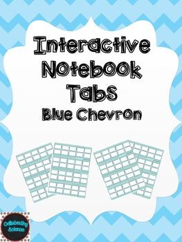 Editable Interactive Notebook Tabs -- Blue Chevron