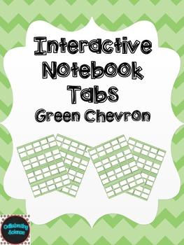 Editable Interactive Notebook Tabs -- Green Chevron