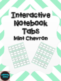 Editable Interactive Notebook Tabs -- Mint Chevron