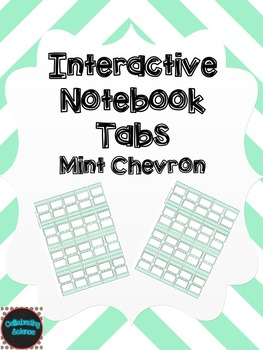 Editable Interactive Notebook Tabs -- Mint Chevron