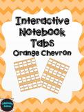 Editable Interactive Notebook Tabs -- Orange Chevron