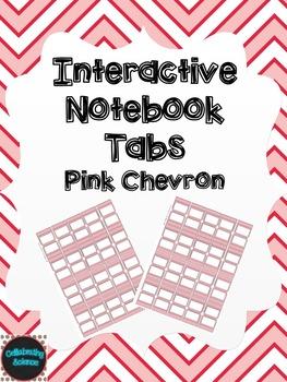 Editable Interactive Notebook Tabs -- Pink Chevron