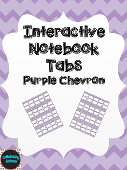 Editable Interactive Notebook Tabs -- Purple Chevron