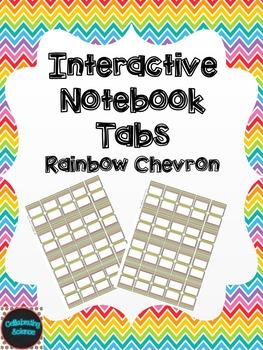 Editable Interactive Notebook Tabs -- Rainbow Chevron