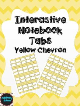 Editable Interactive Notebook Tabs -- Yellow Chevron