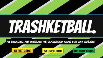 Editable Interactive PowerPoint Game For Any Subject - Trashketball.