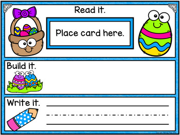 Editable Interactive Sight Word Mat - Spring Easter Read Build Write It