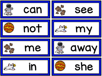 Editable Interactive Sight Word Mat - Space Explorers Read Build Write It