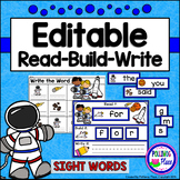Editable Interactive Sight Word Mat - Space Explorers Read