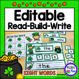 Editable Interactive Sight Word Mat - St. Patrick's Day Read Build Write It