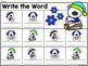 Editable Interactive Sight Word Mat - Winter Bears Read Build Write It