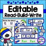 Editable Interactive Sight Word Mat - Winter Bears Read Bu