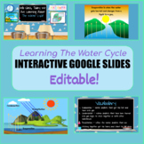 Editable Interactive Water Cycle Google Slides